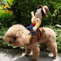حار بيع ركوب الخيل الكلب كلب زي الجدة مضحك هالوين الحزب زي الكلب الملابس كاوبوي الكلب الملابس S-XL