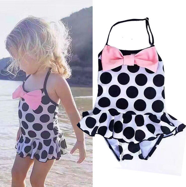 6df0d3c77 ITFABS Toddler Kids Swimming Costumes Baby Girls Bow Dot Bikini Swimwear  Summer Beach Tankini Bathing Suit Swimsuit Beachwear