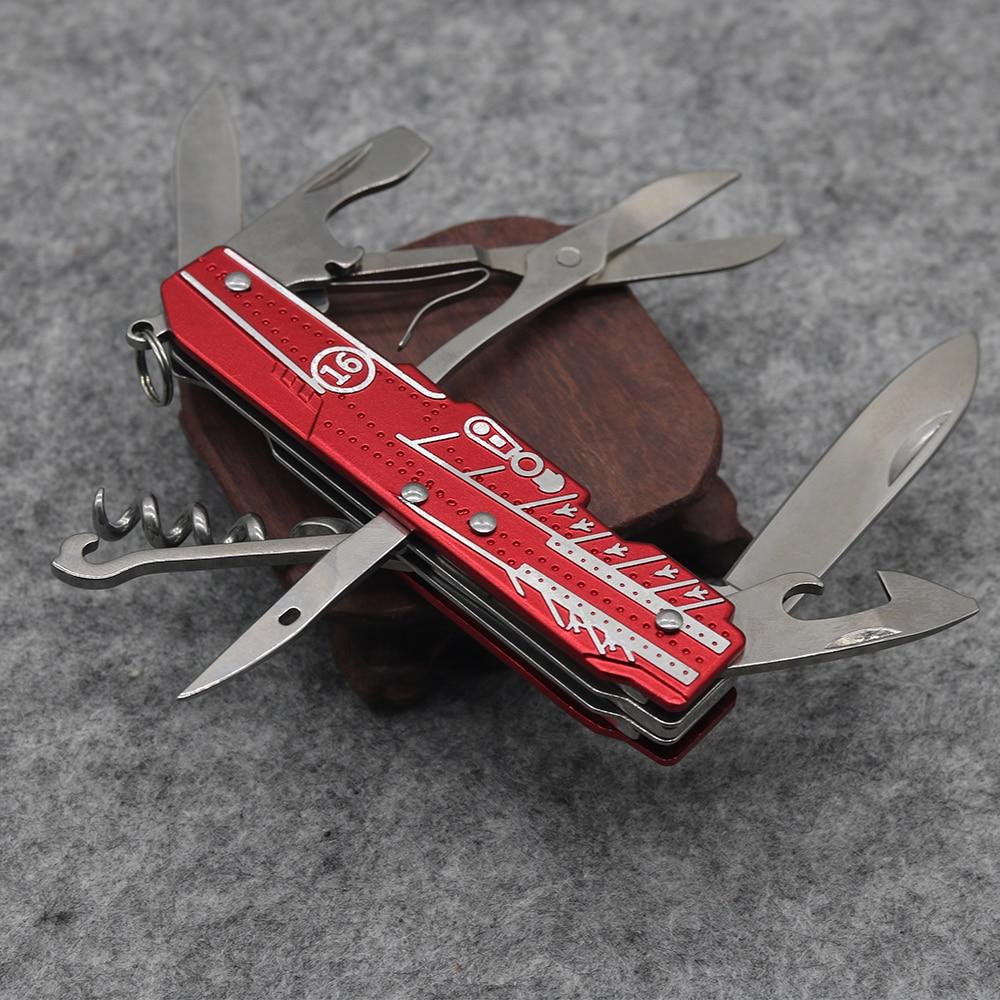 Nový! Červený multifunkční skládací nůž z nerezové oceli 9 - Ruční nářadí - Fotografie 3