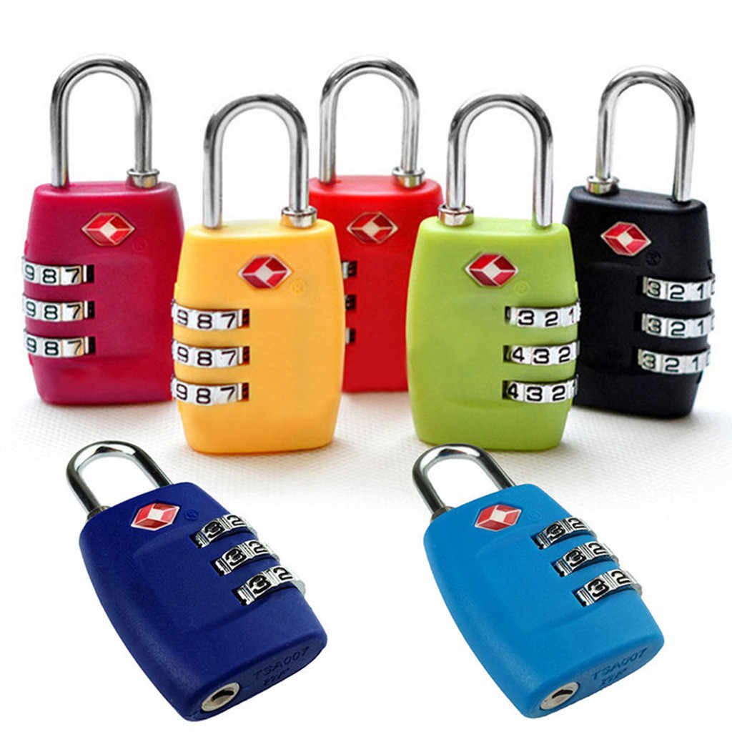 2019 New TSA Approved Luggage Lock Travel 3 Digit Combination Suitcase Padlock Reset #NN0301