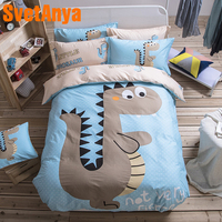 Svetanya Jurassic Kids Bedding Set 100 Cotton Single Double Queen size Bed Linen