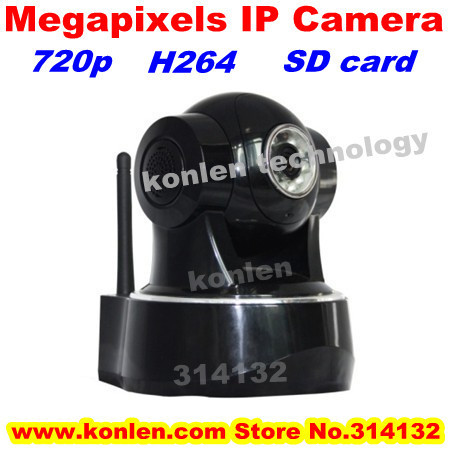 wifi CCTV megapixel ip camera hd H264 720P & 32G sd card max  &ONVIF protocal to NVR, free shipping