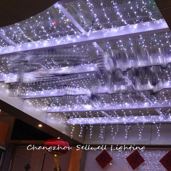 NEW!Christmas lighting hotel decoration 4*4m white LED star lamp H207 tryp lisboa aeroporto hotel 4 лиссабон