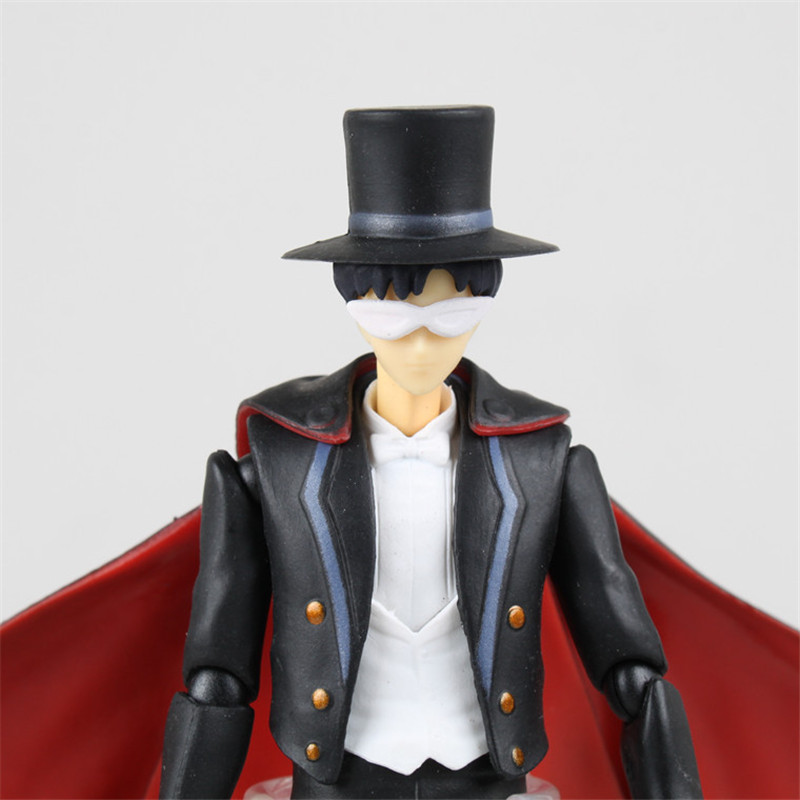 Anime SHFiguarts Sailor Moon Tuxedo Mask Chiba Mamoru 20th PVC Action  Figure Collectible Model Doll Brinquedos 16cm-in Action   Toy Figures from  Toys ... 421b5f311e26