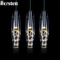 Horsten Avrupa Kristal LED Kolye Işıkları Modern Yaratıcı Yemek Odası Kolye Lamba Yatak Odası Bar Cafe Restaurant Için AC 110-220 V