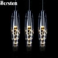 Horsten European Crystal LED Pendant Lights Modern Creative Dining Room Pendant Lamp For Bedroom Bar Cafe Restaurant AC 110 220V