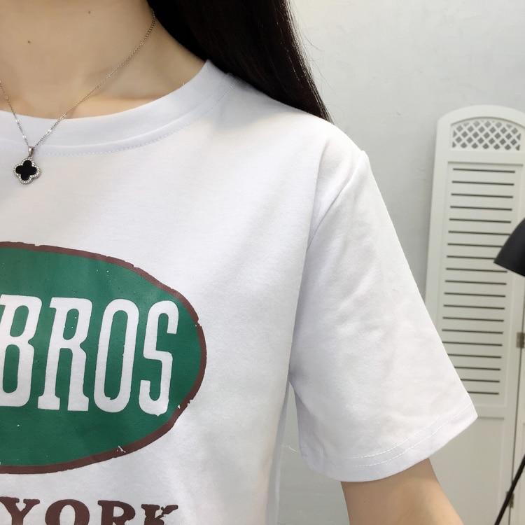 Korean Casual Cotton Female T shirt Streetwear Short Sleeve T shirts for Women Plus Size XXL Tops for Woman Harajuku Shirt in T Shirts from Women 39 s Clothing