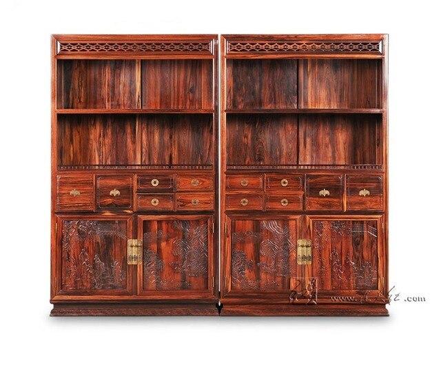 Armadio in pittura di paesaggio Antico in legno Massello Libreria In ...