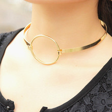 Accessories wholesale contracted brief paragraph clavicle necklace copper metal collar female