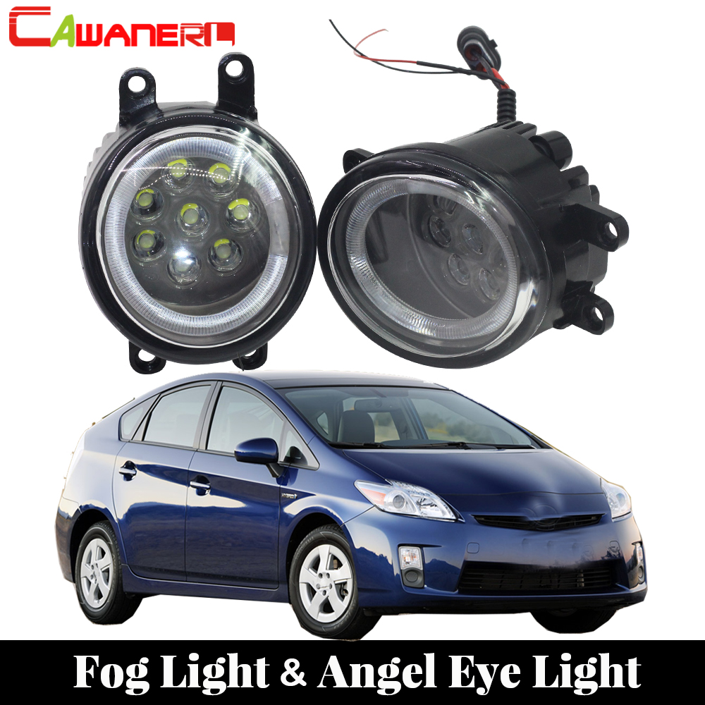 Cawanerl For Toyota Prius 2010 2011 2012 Car Light Source LED Bulb Fog Light Angel Eye DRL Daytime Running Light 12V cawanerl 8 pieces car 5630 chip led bulb white map dome trunk courtesy light interior led kit package for toyota prius 2004 2012