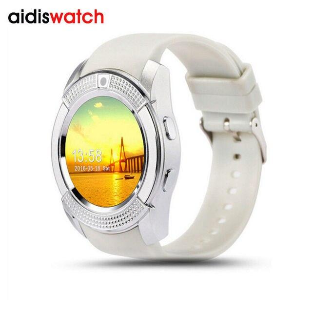 Fashion V8 smart LCD phone watch led quartz Bluetooth pedometer  music micro letter QQ function wristwatch sleep tracker