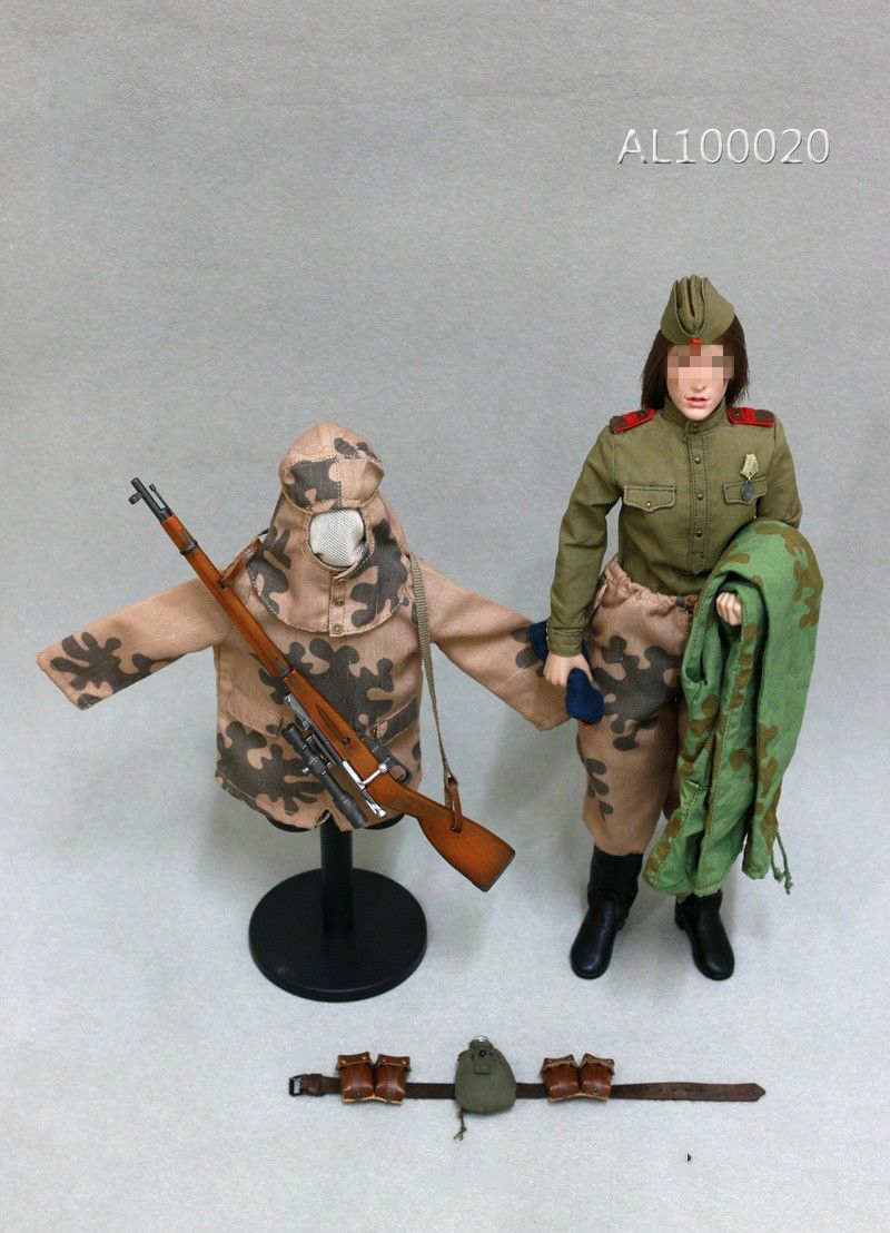 1/6 AL100020 WWII Woman Soviet Sniper Solider Clothes Set for 12