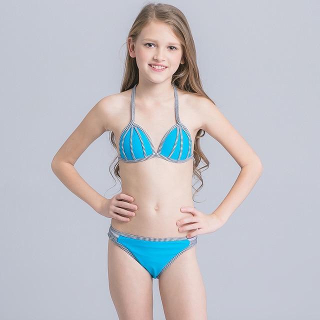 011b377534 Cukierki strój kąpielowy dla dziewczynek dwuczęściowy strój kąpielowy  dziecięcy 2017 Halter różowy dzieci Bikini dla dzieci