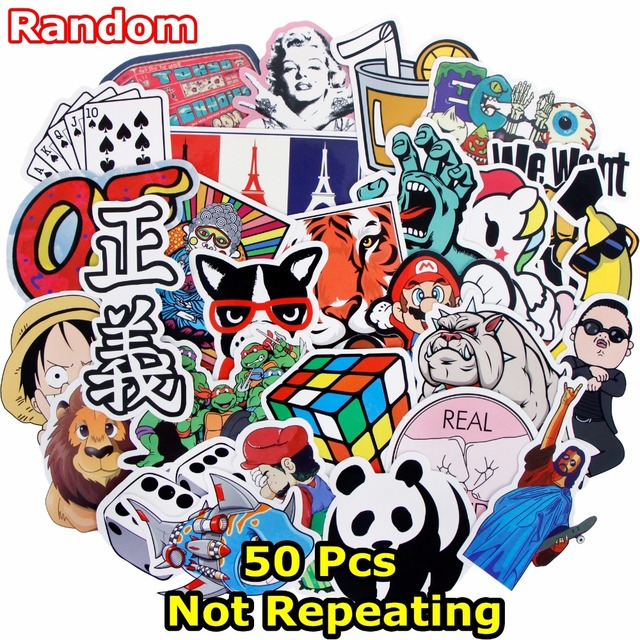 Different Stickers For Laptop Bike Car Graffiti Skateboard Motorcycle Styling Funny Cool Waterproof Doodle Decal