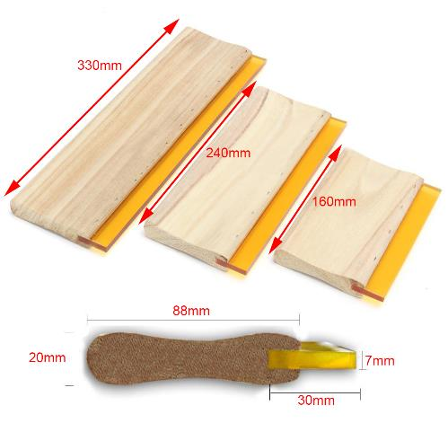 Free Shipping 3pcs/lot Silk Screen Printing Squeegees Blade Wooden Handle Mayitr Ink Scraper Scratch Board Tools 16cm 24cm 33cm
