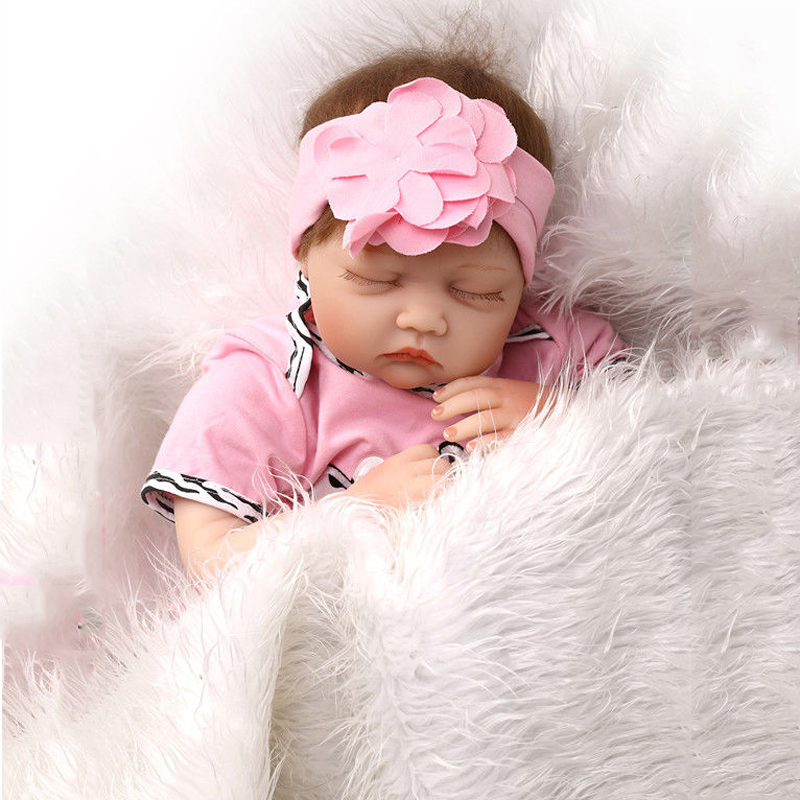 22 Sleeping Newborn Dolls Model Toys Handmade Mini Lifelike Reborn Baby With the Pink Clothing   Silicone vinyl Doll ship to russia no tax jovy re8500 bga rework station re 8500 upgraded from re7500 soldering machine high quality