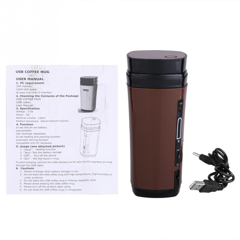 Self Usb Coffee Cup Mug Powered Warmer Automatic Rechargeable N8wOPXn0k
