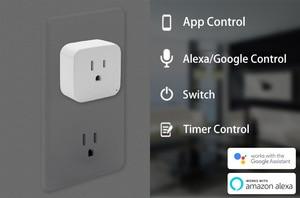 Image 4 - Wifi Smart Socket Smart Plug Tuya Smart Life App  US Plug  Remote Control Alexa Google Home Mini IFTTT Supports 2.4GHz Network