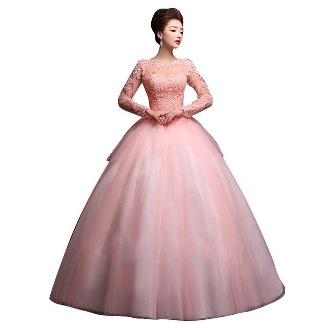 Sucia Rosa Vestido de Novia 2017 Apliques de Encaje Balón vestido de ...