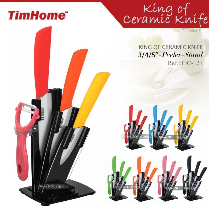 5pcs Kitchen Ceramic Knife Set 3