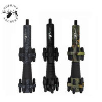 1pc 6.5inch Archery Compound Bow Stabilizer Aluminum Alloy Shock Absorber Vibration Compound Bow Damper Shooting Accessories