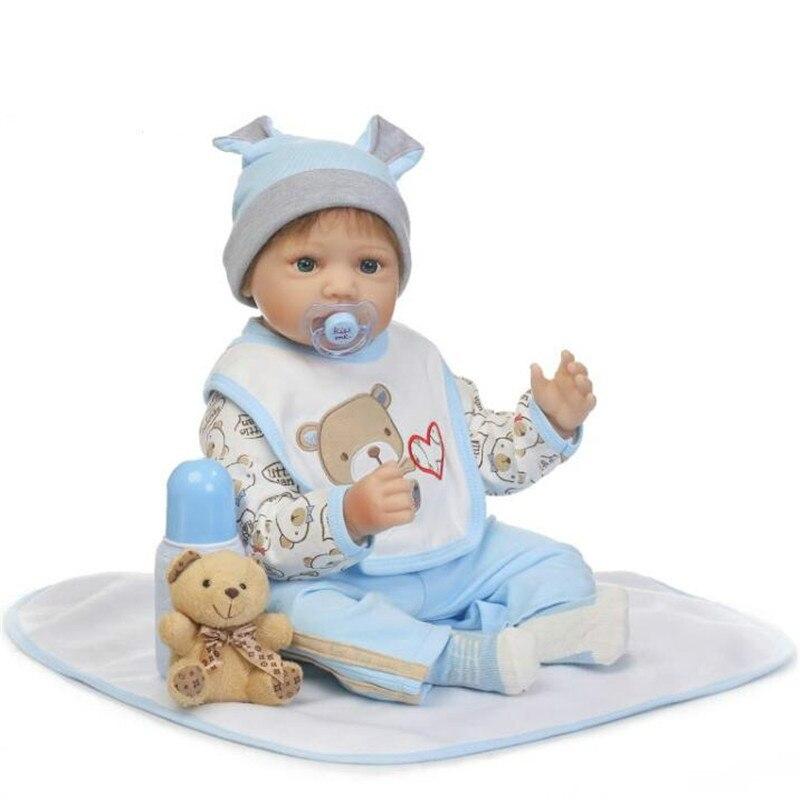 55cm/22'' Realistic Reborn Toddler Dolls Handmade Lifelike Baby Silicone Vinyl Boy Sleeping Toy Collection 55cm 22 handmade lifelike baby silicone vinyl realistic reborn toddler dolls girl play toy collection