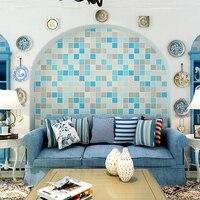 PAYSOTA Modern Imitation Ceramic Tile Mosaic Wallpaper Living Room Bedroom Aisle TV Setting Wall Paper Roll