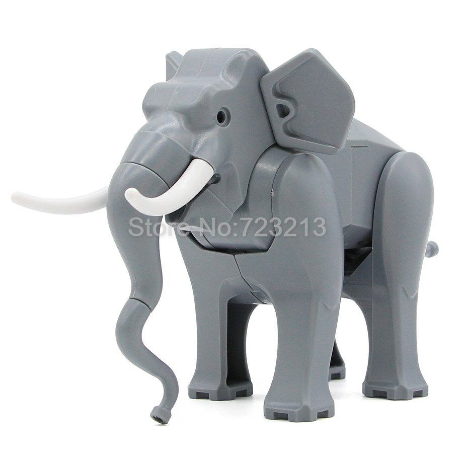 Cute Legoing Animal Single Sale Elephant Figure Building Blocks Set Model Bricks Educational Toy For Children