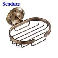Free Shipping Soap Dish Soap Holder Gold Rose Gold Antique Chrome Bronze Hanger Brass Soap Basket