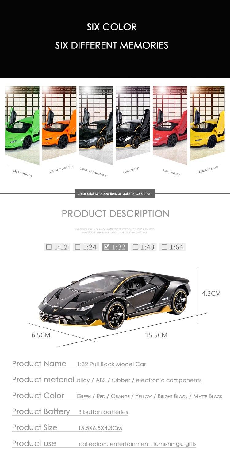Centenario LP700-4 High Quality Model Toy Car 15.5x6.5x4.3 cm 33