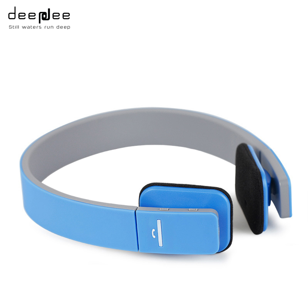 DEEPDEE Wireless Smart Bluetooth Headphone Light Adjustable Stereo Headset Handsfree Call with Microphone for Mobilephone Laptop wireless service call bell system popular in restaurant ce passed 433 92mhz full equipment watch pager 1 watch 7 call button