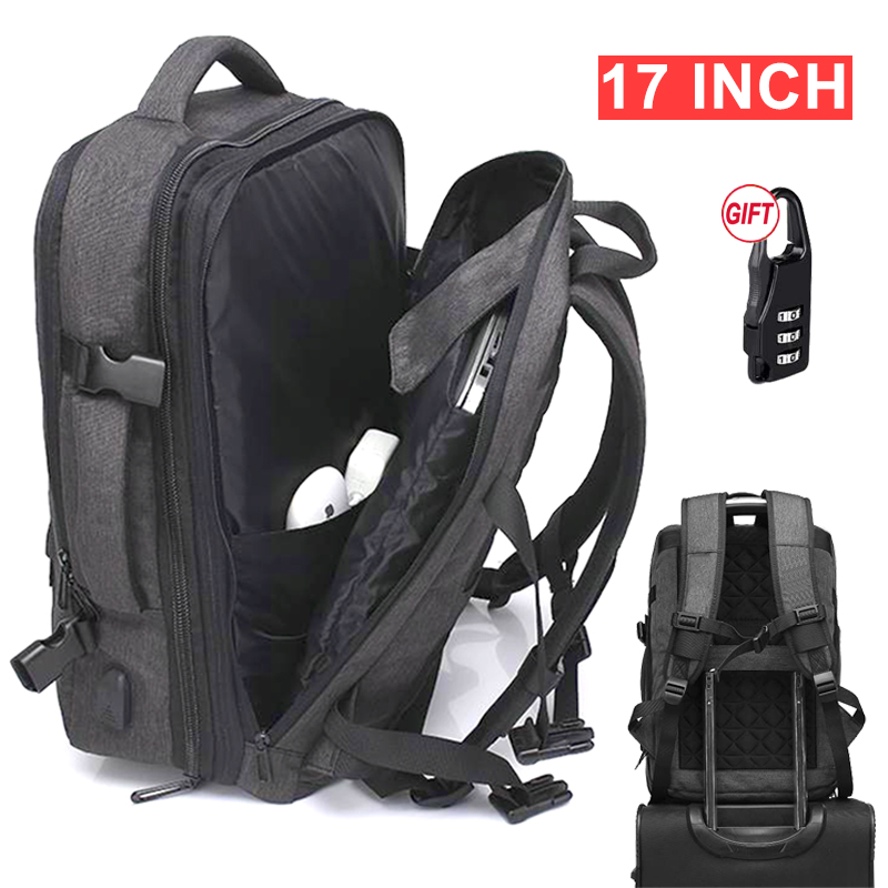 17 Inch Laptop Anti theft Travel Backpack Bag Women Men Male USB Charging 15 6 Notebook Bagpack Outdoor Large Luggage Backpacks in Backpacks from Luggage Bags