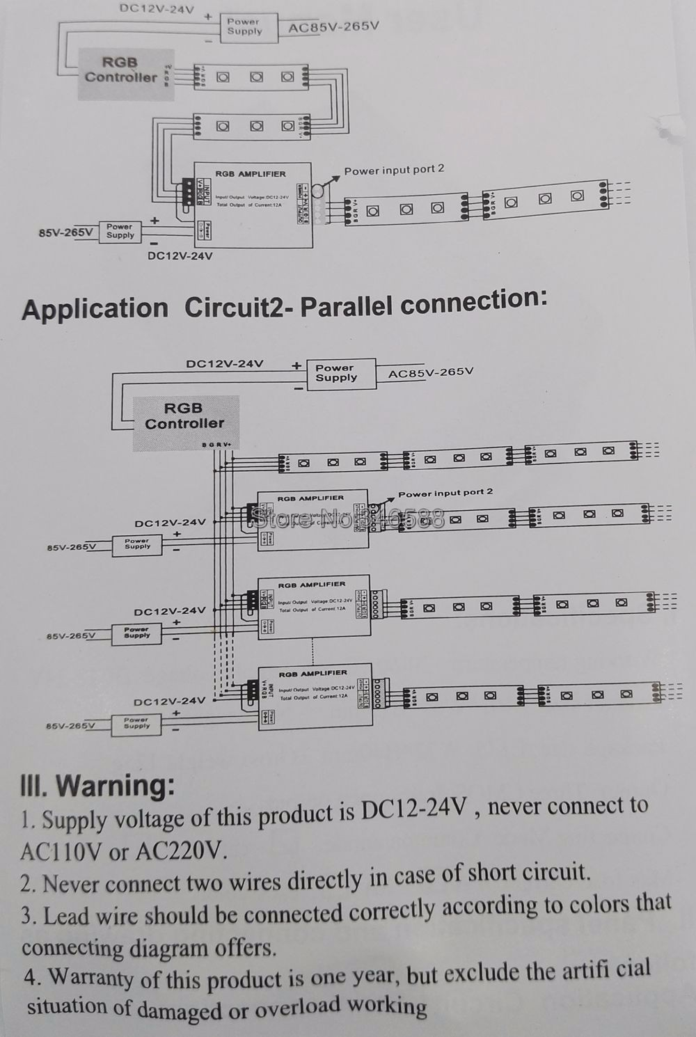 Dc12v 24v 12a Rgb Singnal Amplifier Repeater Controller Aluminum Led Strip Wiring Diagram With Parallel Getsubject Aeproductgetsubject