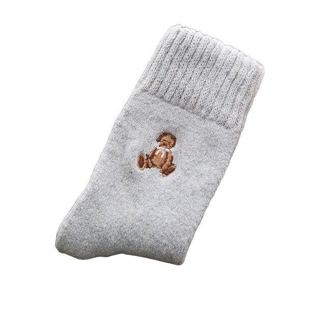 Japan Harajuku Fashion Character Crew Socks Cotton Winter Warm Terry Street Style Fluffy Wool Thermal Sock Women Christmas Gift 3