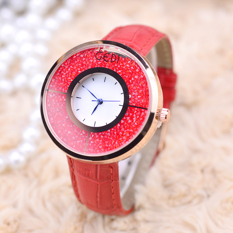Fashion Rhinestone Watches Women Top Luxury Brand Ladies Quartz Watch Leather Wrist Watch Relogio Feminino Montre Femme Hodinky 2016 top julius brand luxury crystal watches leather strap rhinestone fashion qaurtz wrist watch montre femme relogio feminino