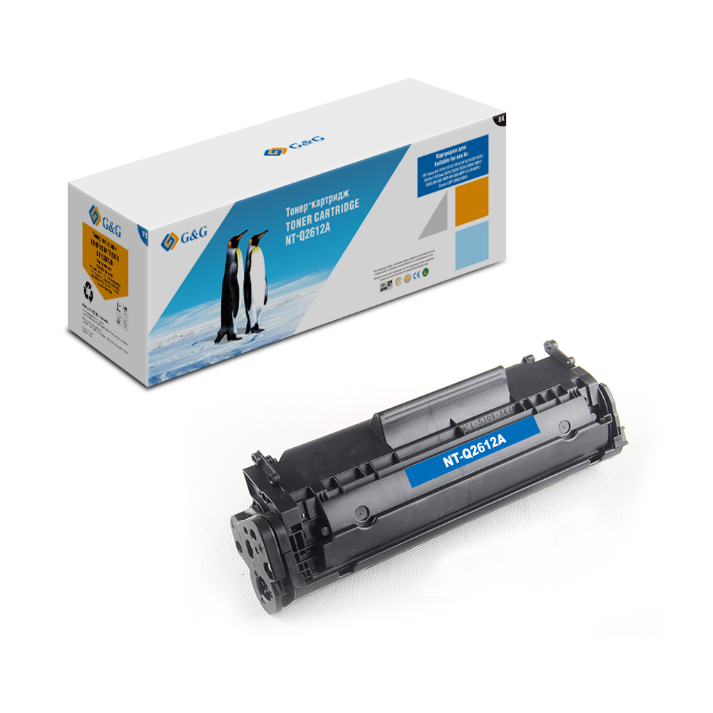 Computer Office Office Electronics Printer Supplies Ink Cartridges G&G NT-Q2612Afor HP LaserJet 1020/1022/3015/3020/3030  M1005