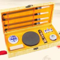 Chinese Traditional Calligraphy Set for beginners Scholar's Four Jewels Regular Script Calligraphy Writing Brushes pen Set