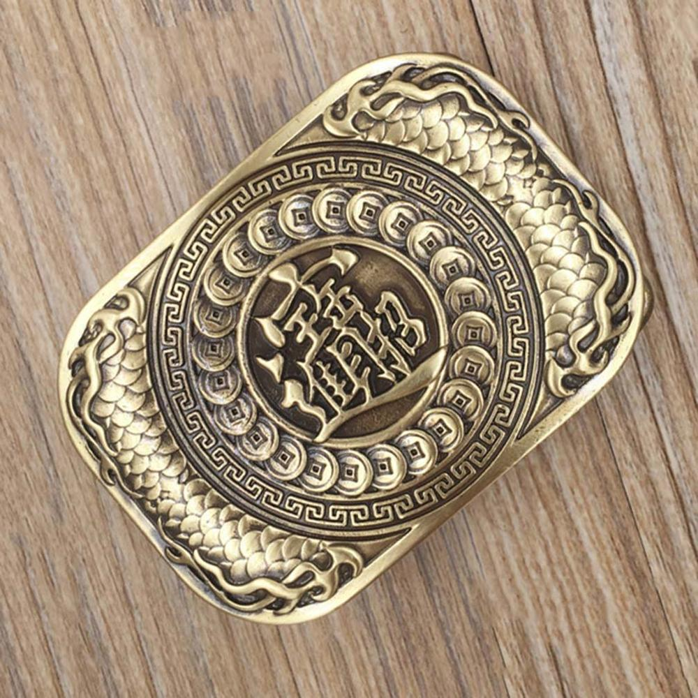 CUKUP New Brand Name Unique Design Animal Pattern Solid Brass Buckle Metal for 3.7-3.9cm Wide Belt Paties Buckles for Men BRK001