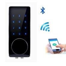 Мобильный Bluetooth Блокировка Дверей APP Управления, пароль, Электронный ключ Touch Screen Keypad Код Цифрового Замка Smart Entry 76AP-3