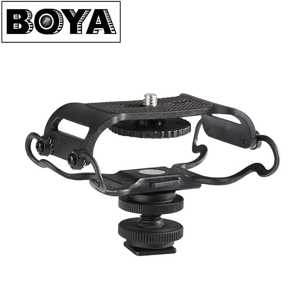 BOYA BY-C10 micrófono choque Monte Zoom H4n/H5/H6 para Sony Tascam DR-40-DR 05 grabadoras de Microfone Shockmount cubierta del Olympus Tascam