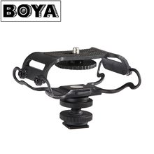 BOYA BY-C10 Microphone Shock mount for Zoom H4n/H5/H6 for Sony Tascam DR-40 DR-05 Recorders Microfone Shockmount Olympus Tascam(China)