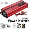 2000W Car LED Dual Display Inverter DC 12 24V 110V 220v Converter 4 USB Ports Charger