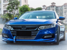 Yimaautotrims Front Engine Hood Protection Plate & Head Lights Lamps Eyebrow Cover Trim Fit For Honda Accord 10th 2018 2019 ABS