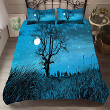 Bedding Set 3D Printed Duvet Cover Bed Set Sea Fantasy Fairy Forest Home Textiles for Adults Bedclothes with Pillowcase #MJSL08 шторы тканевые seven fairy home textiles 6036 5