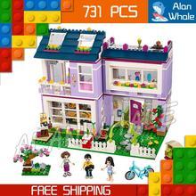 731pcs Friends Princess Series New Emma s House Model Building Kit Bricks Blocks Girls Children Gifts
