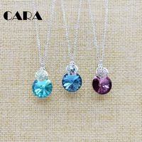 CARA NEW Arrival Ladies Elegant Platinum Plated Chocker Necklace Women With SWAROVSKI Crystal Jewelry Women CARA0178