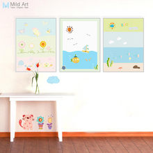 Kawaii Animals Modern Mini Cute Nursery Canvas Art Print Poster Wall Picture Kids Baby Room Home Decor Canvas Painting No Frame(China)