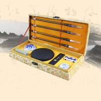 Chinese Paint brush Pen Set Woolen Weasel Hair Brushes Art Stationary Waterbrush with gift box