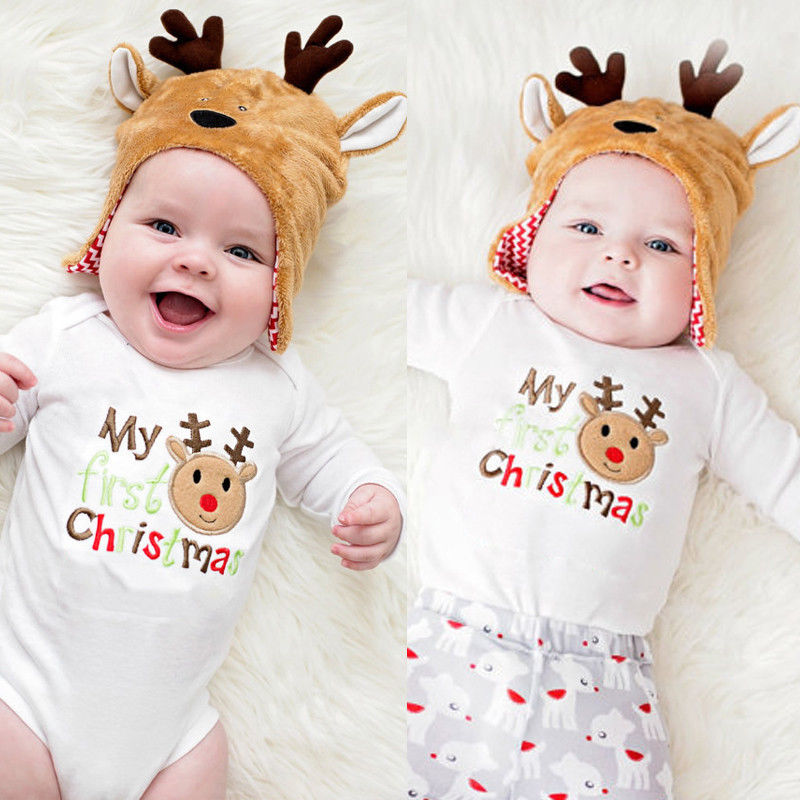 BNWT Kite Organic Baby Infant Boys Girls Red Reindeer Bodysuit Top Christmas