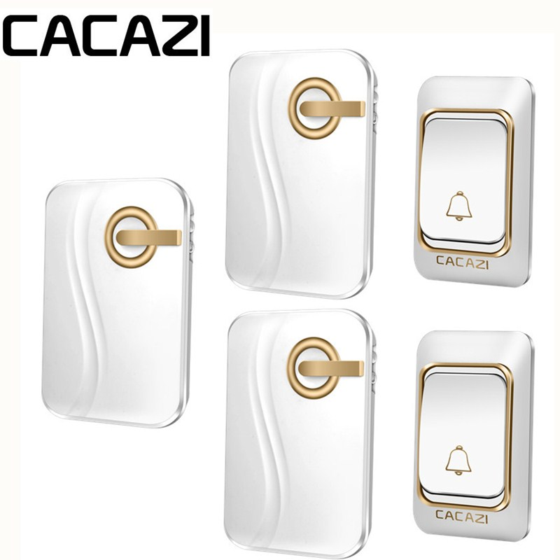 CACAZI Remote Range Smart Wireless Doorbell DC Battery Operated Waterproof Doorbell Rings 6 Volume Door Chime 36 Remote Control beryl screwdriver set precision screwdriver set telecommunication tool repair phone disassemble tool bt8001